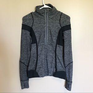 ◾️LuluLemon Heather Grey And Black Pullover Jacket